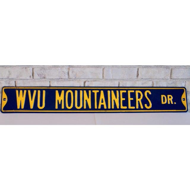 Enamel West Virginia University Street Sign For Sale - Image 7 of 7