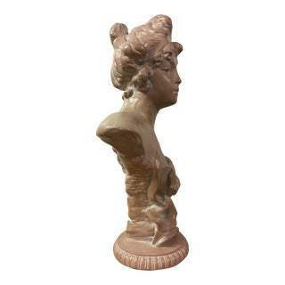 Art Nuevo Style Plaster Bust