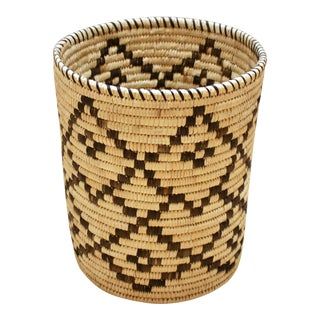 Handwoven Tohono O'Odham Native American Basket For Sale