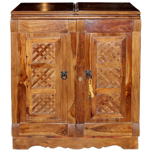 Mango Wood Bar Cabinet For Sale