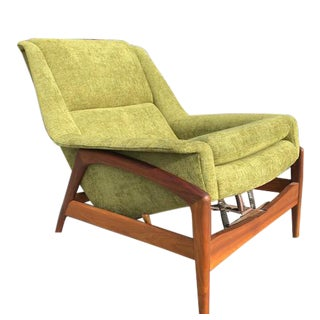 Vintage Scandinavian Modern Recliner Chair by Folke Ohlsson for DUX,