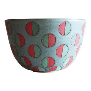 Split Polka Dot Bowl by Matthew Ward, New Mexico 2019 For Sale