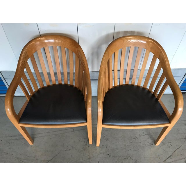 Ward Bennett for Brickel Associates Rare Library Chairs - A Pair For Sale - Image 9 of 11