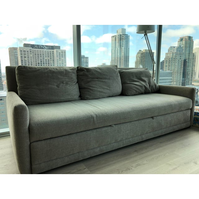 Contemporary Modern Crate & Barrel Queen Sleeper Sofa For Sale - Image 3 of 6