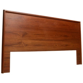 Scandinavian Modern California King Headboard in Teak For Sale