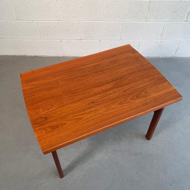 Wood Teak Side Table by Tove and Edvard Kindt-Larsen for Dux For Sale - Image 7 of 9