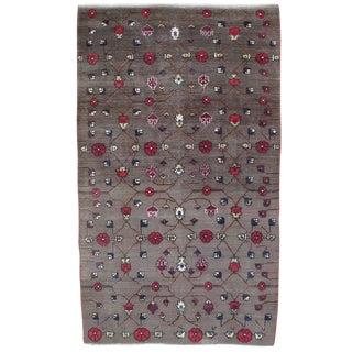 Karapinar Rug with Flower Lattice Design For Sale
