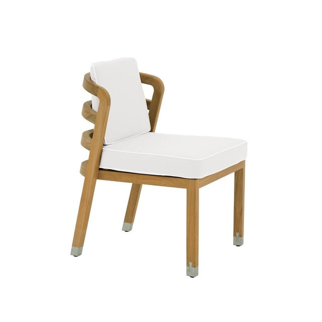 Contemporary Summit Furniture Linley Dining Side Chair For Sale - Image 3 of 3