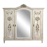 Image of Antique French Louis XVI Painted Armoire For Sale