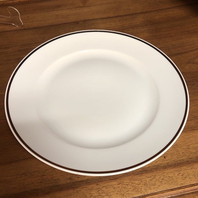Exuding Classical Elegance, This Simple White Or Off White Round Dished Serving Platter Or Charger - Made In Italy By...