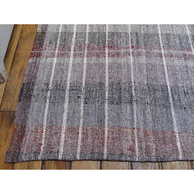 Cotton Cotton and Goat Hair Kilim with Subtle Color For Sale - Image 7 of 9