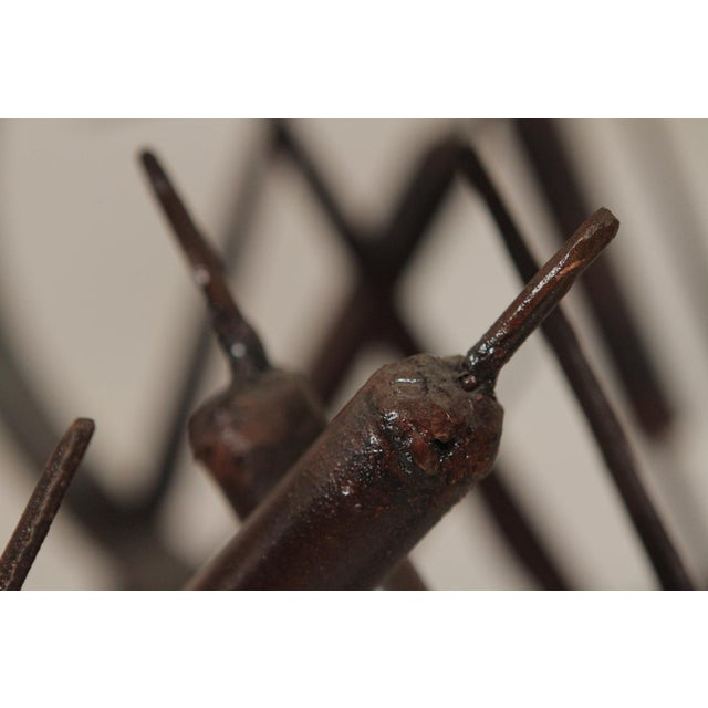 Modern Handmade Wrought Iron Side Tables For Sale - Image 9 of 10