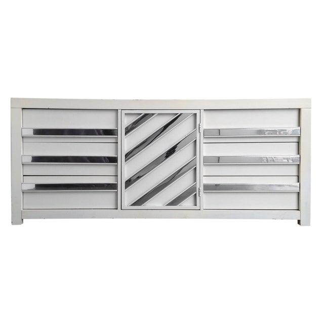 Vintage Chrome & White Lacquered Dresser - Image 1 of 5