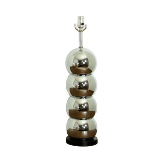 4 Ball Chrome Vintage Table Lamp