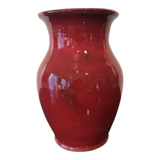 Traditional Style Calhoun Red Pottery Fire Glaze Vase