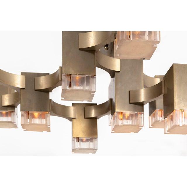 Italian Gaetano Sciolari Chandelier For Sale - Image 3 of 6