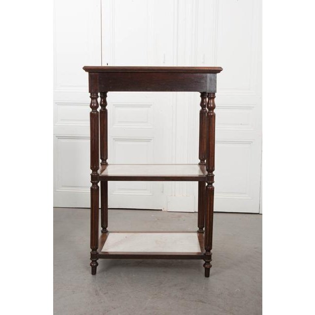 French French 19th Century Louis XVI-Style Oak and Marble Three-Tier Etagère For Sale - Image 3 of 13