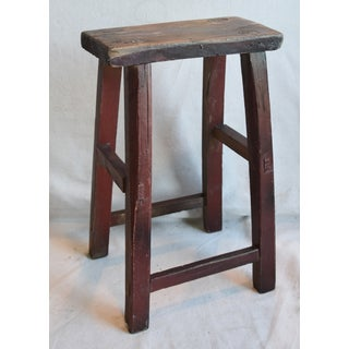 Rustic Primitive Country Wood Farmhouse Stool Preview