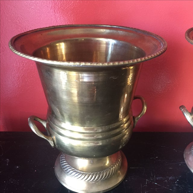 Petite Brass Champagne Buckets - A Pair - Image 3 of 6