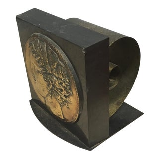Bookend - Classical Theme and Coil Bookend For Sale
