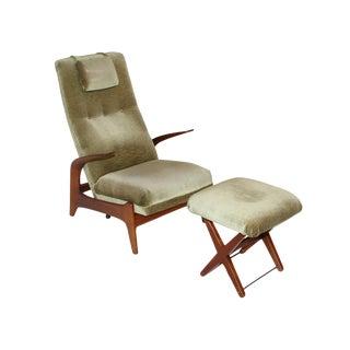 """Gimson & Slater """"Rock N Rest"""" Armchair & Ottoman For Sale"""