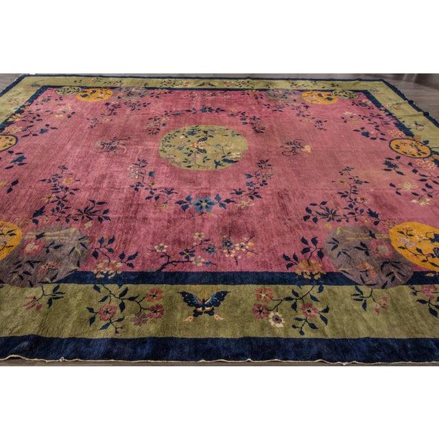 "Textile Apadana Chinese Art Deco Rug - 12'3"" X 14' For Sale - Image 7 of 7"
