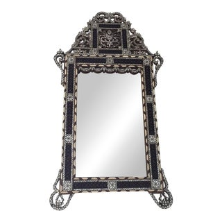 19th Century Moorish Mirror Inlay With Mother-Of-Pearl For Sale