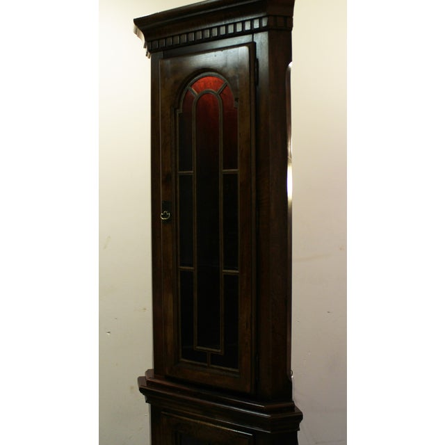 Two-Piece Lighted Cherry Curio Corner Cabinet - Image 4 of 11