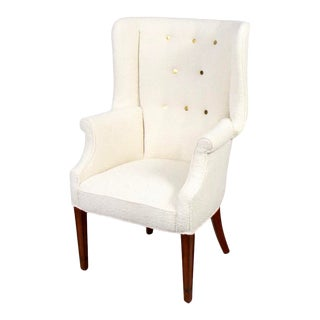 Fritz Henningsen Style Wingback Chair For Sale