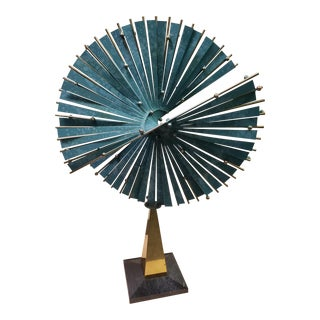 Postmodern 1987 Monumental Cinetic Split Sphere Table Sculpture by Curtis Jere, Signed & Dated For Sale