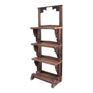 1900s Carved Corbel Display Bookshelf For Sale