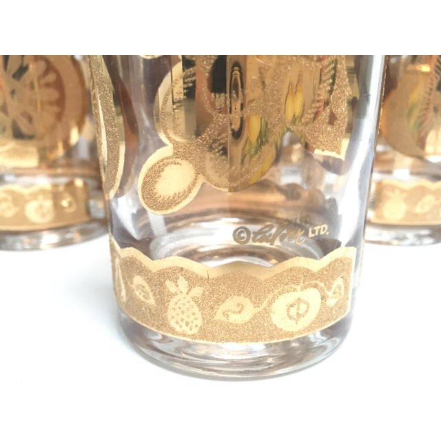 Culver Ltd. Mid-Century Culver 22k Gold Fruit Tumblers - Set of 8 For Sale - Image 4 of 7