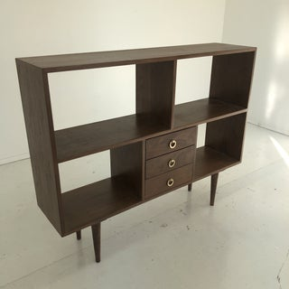 Handcrafted Minimal Walnut Bookcase Preview