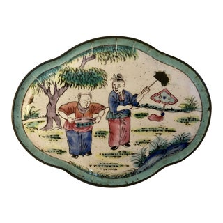Antique Chinese Canton Enamel Box For Sale