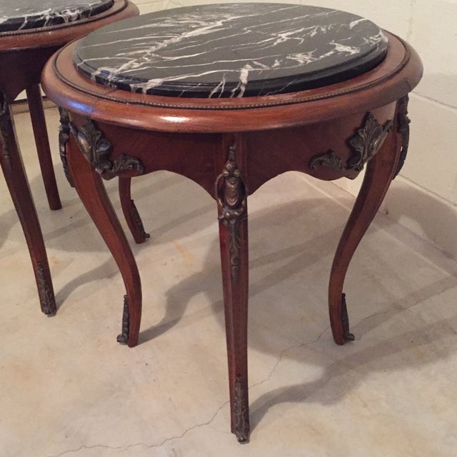Antique French Side Tables - A Pair - Image 7 of 9