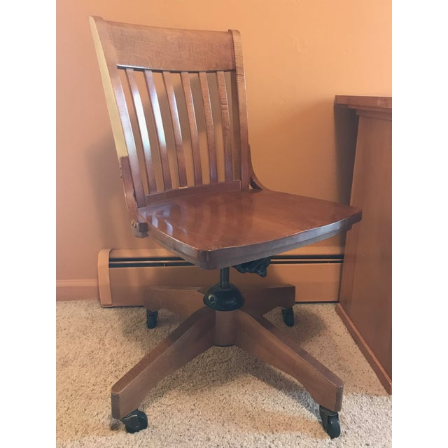 Pottery Barn Wooden Desk Chair - Image 8 of 8