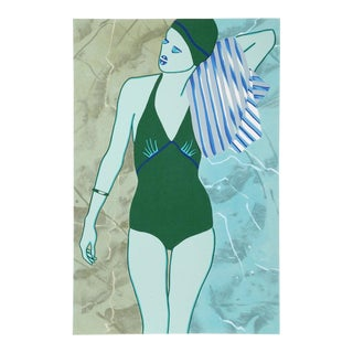 Kiki Kogelnik, Bathing in Green, 1978 For Sale