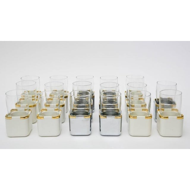 Set of 17 Resin,Glass and Gold-Plated Patio/Garden Pool Drinking Glasses For Sale - Image 11 of 11