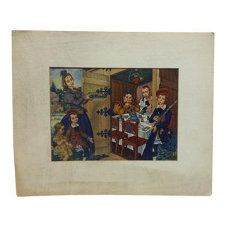 "Vintage ""The Sukkah"" Religious Print by Arthur Szyk For Sale"