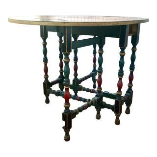 Antique Japanned Gateleg Dining Table For Sale