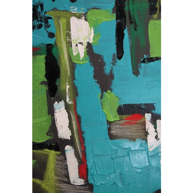"""Acrylic 2017 """"BU 4"""" Abstract Acrylic Painting For Sale - Image 7 of 10"""