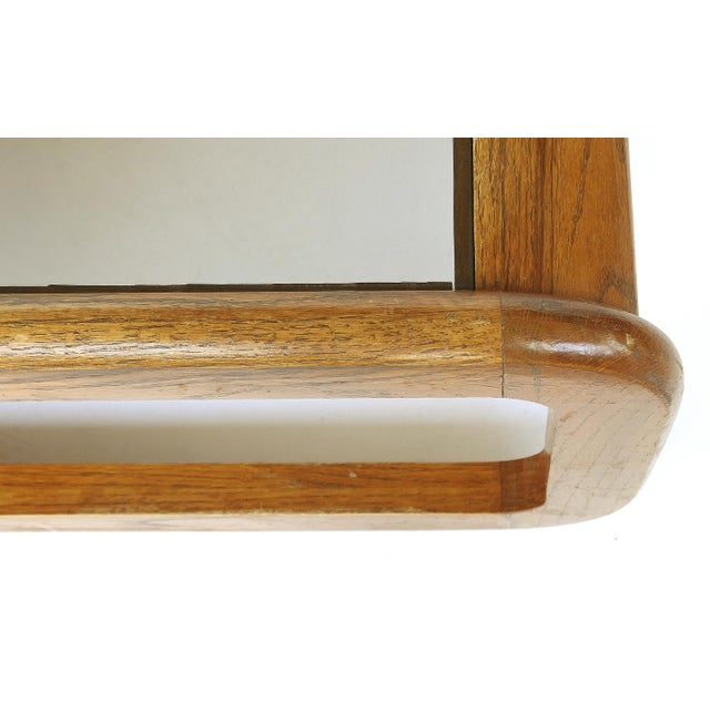 1960s Lou Hodges Mid-Century Modern California Coffee Table With Inset Glass For Sale - Image 5 of 8