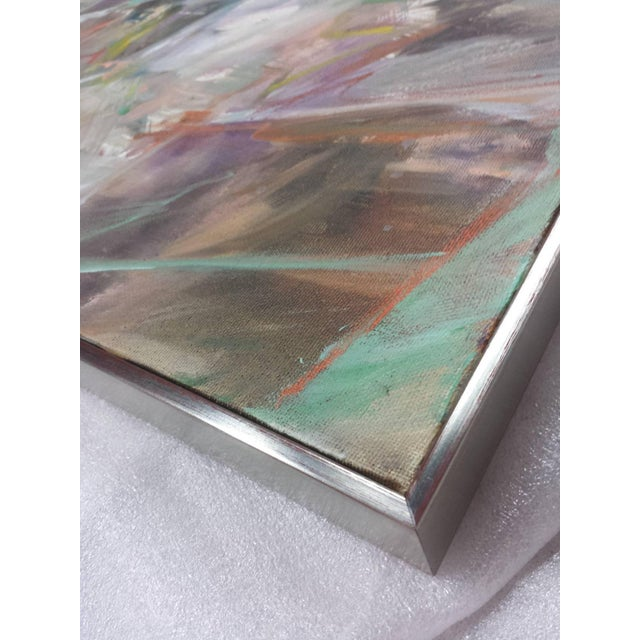 """1990s Abstract Oil on Canvas Painting """"Classic"""" by Wayne Timm For Sale In West Palm - Image 6 of 9"""