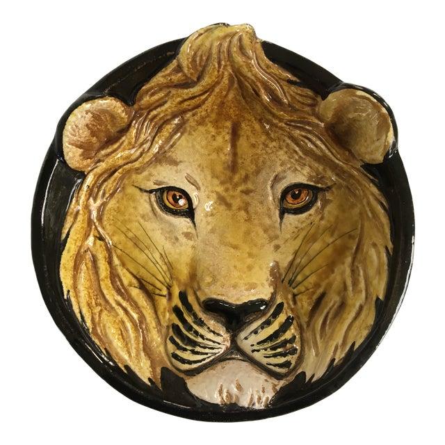 Mid-Century Italian Hollywood Regency Lion Decorative Bowl/Catchall For Sale