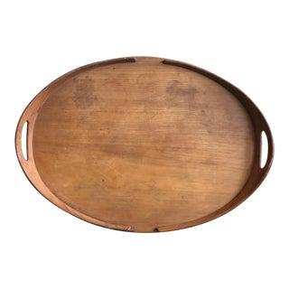 Mid Century Modern Dansk Teak Oval Tray For Sale