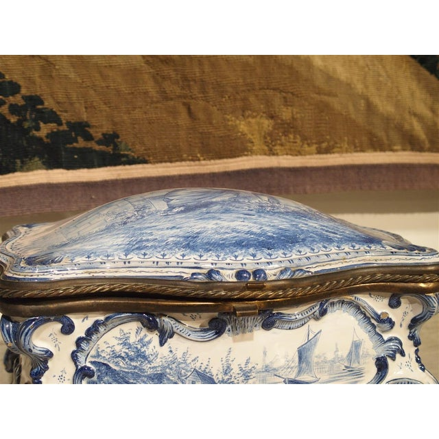 Antique Blue and White Delft Table Box, Late 19th Century For Sale - Image 9 of 13