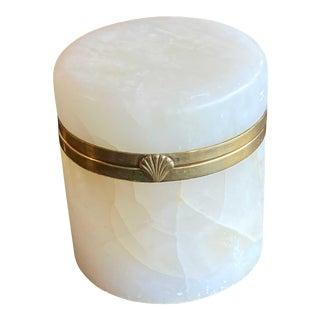 Vintage Mid Century Italian Marble Jar For Sale