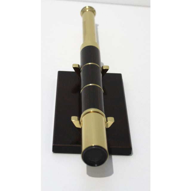 """Vintage Van Cort Telescope on Stand Mahogany & Brass Expands to 12"""" For Sale - Image 4 of 11"""