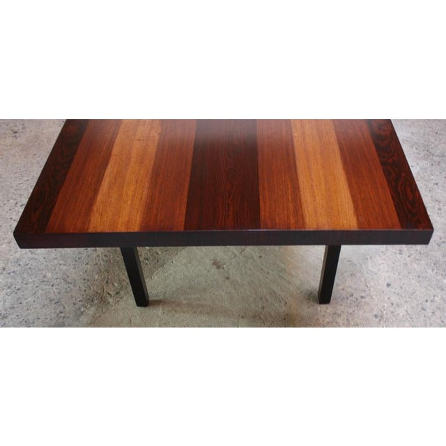 Milo Baughman Mixed Wood Dining Table For Directional - Image 4 of 11