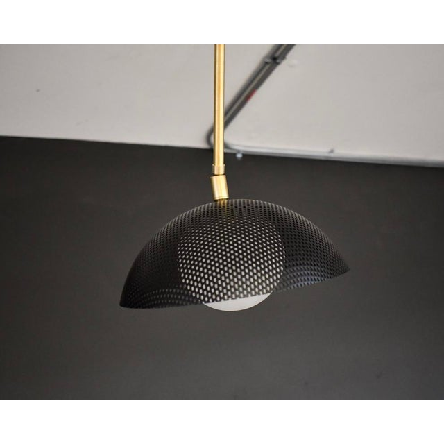 Mid-Century Modern Insetto Articulating Chandelier in Enameled Mesh & Brass by Blueprint Lighting For Sale - Image 3 of 9